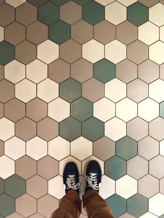 Padrão do chão do Hotel