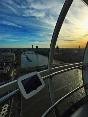 London Eye, vista oeste