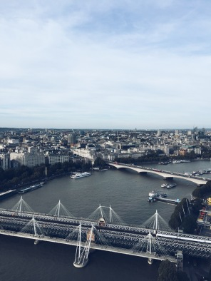 London Eye, vista leste