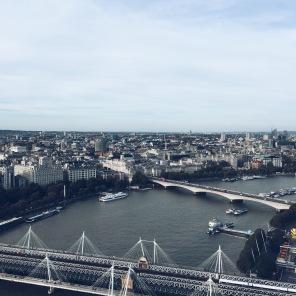 London Eye, vista leste